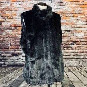 Banana republic XL faux imitation fur vest lined